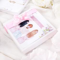 PREZENT dla Panny Młodej w pudełku BRANSOLETKA Przyjaciółki