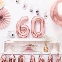 BALON foliowy na urodziny 35cm ROSEGOLD Wybierz cyfrę