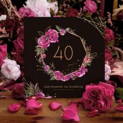 ZAPROSZENIA na 40 urodziny Boho 10szt (+koperty)