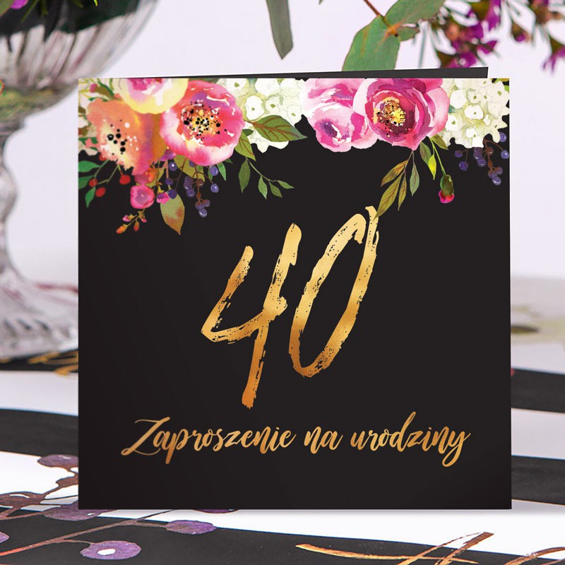 Zaproszenia na 40 boho