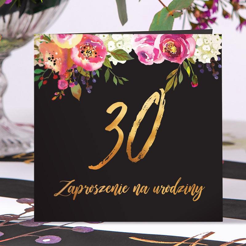 Zaproszenie na 30 urodziny boho