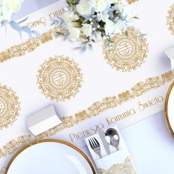 BIEŻNIK dekoracja komunijna stołu obrus IHS Exclusive 40cmx5m
