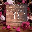 ZAPROSZENIA na 18 urodziny Rustic rustykalne 10szt (+koperty)