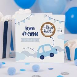 ZAPROSZENIA na Urodzinki Autka ZE ZDRAPKĄ 10szt (+koperty)