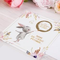 ZAPROSZENIA na Urodzinki Zajączek ZE ZDRAPKĄ 10szt (+koperty)