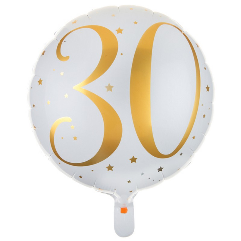 Balony na 30 urodziny foliowe