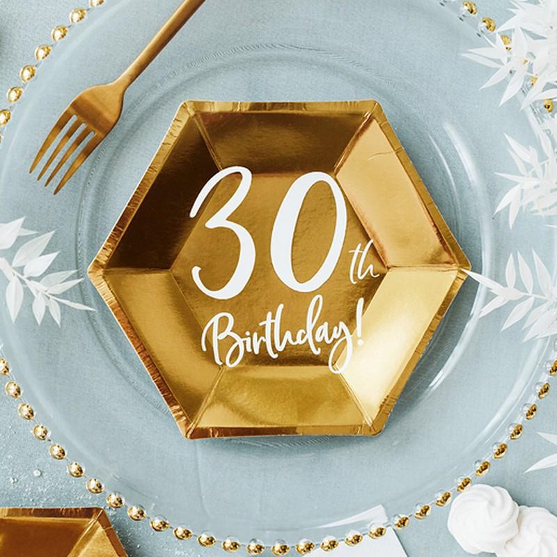 talerzyki na 30 urodzin