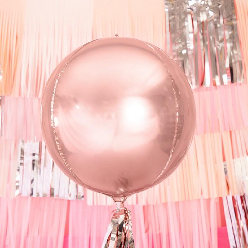 Balon foliowy w kolorze rosegold