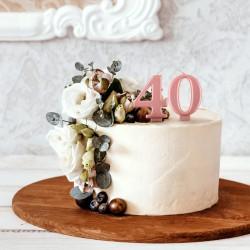 ŚWIECZKI na tort na 40 urodziny ROSEGOLD