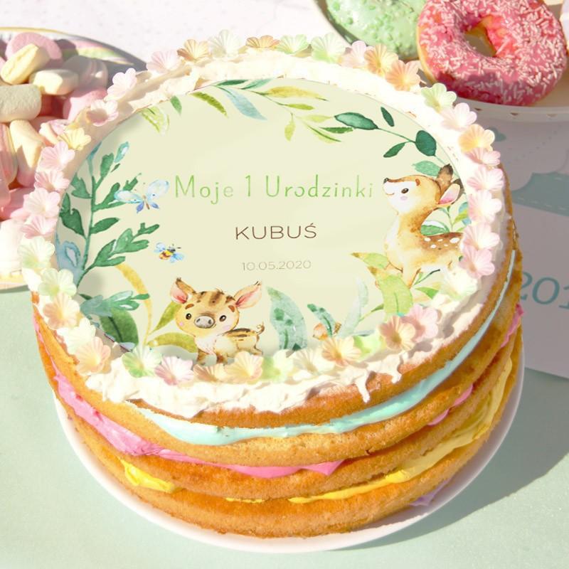 opłatek na tort na roczek