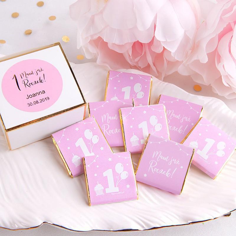 czekoladki na roczek dziewczynki