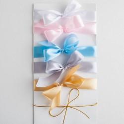 WSTĄŻKI do zaproszeń na Komunię, Chrzest  i Urodziny różne kolory 10szt