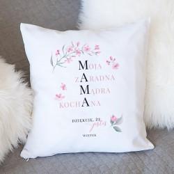 PREZENT na Dzień Matki poduszka Dziękuję, że jesteś Z IMIENIEM