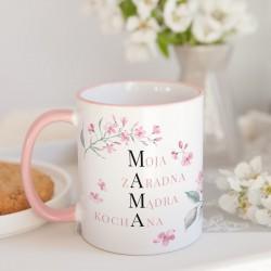PREZENT na Dzień Matki kubek Dziękuję, że jesteś 330ml Z IMIENIEM