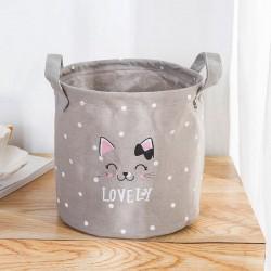 POJEMNIK na zabawki worek na pranie 20x20cm LOVELY CAT