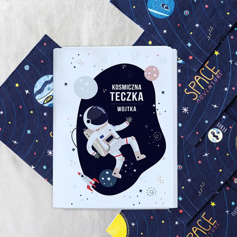 personalizowana teczka na rysunki dla chłopca