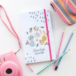 PAMIĘTNIK dla dzieci notatnik Z IMIENIEM Kotki 80 kartek czystych