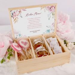 PREZENT na Dzień Matki zestaw słodki Z IMIENIEM Subtelny Róż