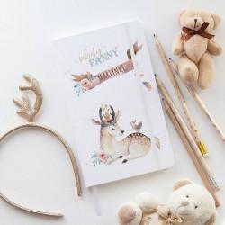 PAMIĘTNIK dla dzieci notatnik Z IMIENIEM Boho Jelonek 80 kartek w kratkę