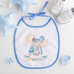 ŚLINIAK dla dziecka Niebieski Króliczek Z IMIENIEM niebieski