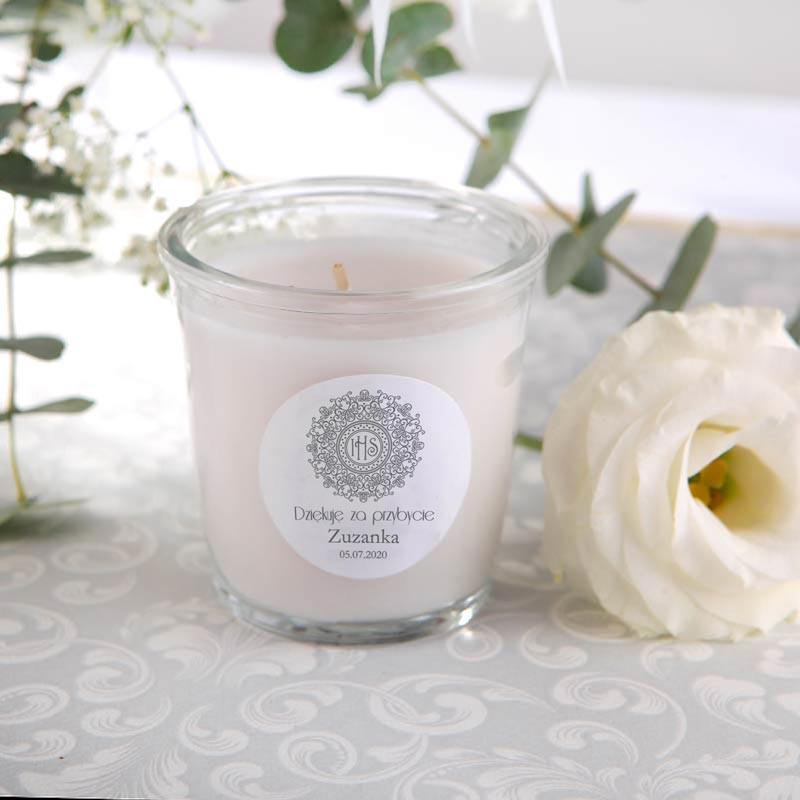 Zapachowa świece jako podziękowanie dla gości  komunijnych