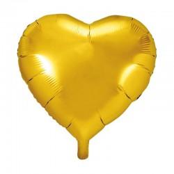 BALON foliowy Serce 45cm ZŁOTY