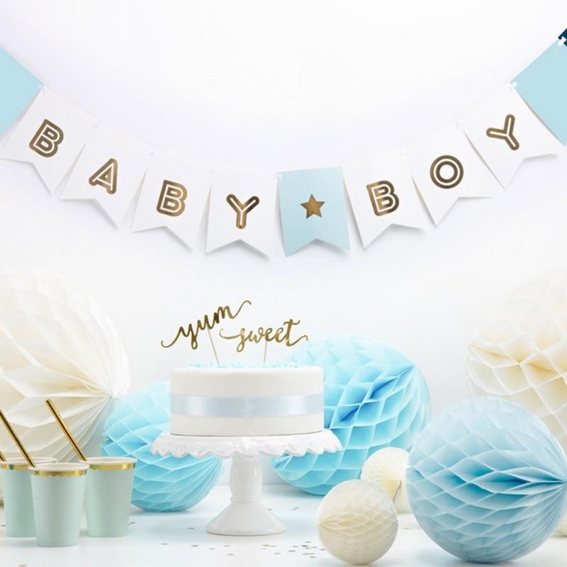 Niebieska grolanda na narodziny dziecka