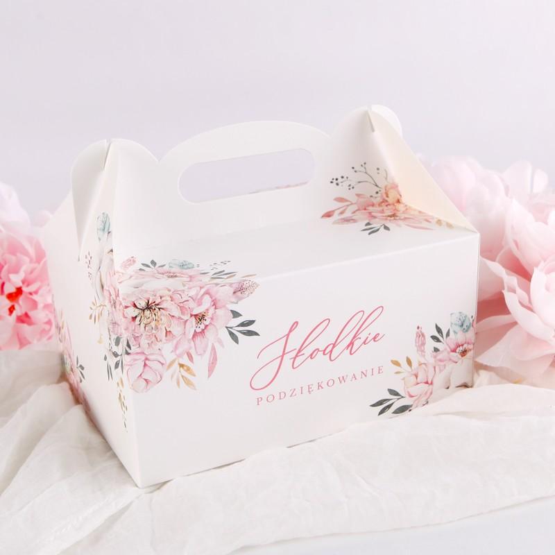 Pudełko na ciasto komunijne dla dziewczynki