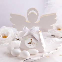 PUDEŁECZKA Aniołek Lilie 10szt (+etykiety z imieniem+białe wstążki)