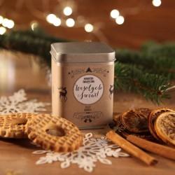 ŚWIĄTECZNA PUSZKA z herbatą na prezent Zimowy Wieczór Z IMIENIEM