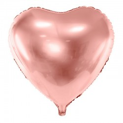 BALON foliowy Serce 45cm ROSEGOLD
