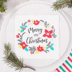 SERWETKI świąteczne Merry Little Christmas 33x33cm 20szt