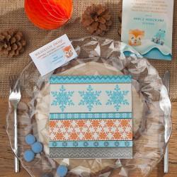 SERWETKI świąteczne Colourfull Snowflakes 33x33cm 20szt