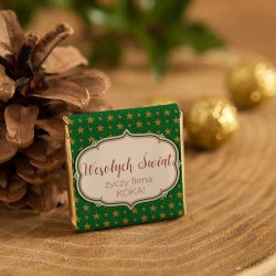 CZEKOLADKA świąteczna na prezent Zielone Święta personalizowana