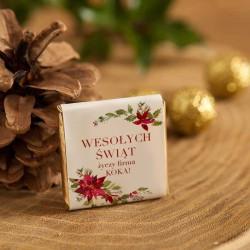 CZEKOLADKA świąteczna na prezent firmowy Poinsecja