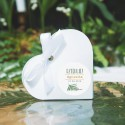 PUDEŁECZKA SERCA na Komunię Liście Paproci (+etykiety z imieniem+białe wstążki) 10szt