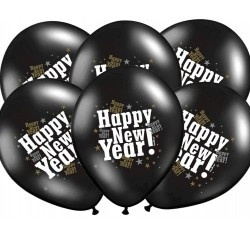 BALONY sylwestrowe Happy New Year 6szt