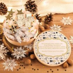 KOSZ prezentowy świąteczny firmowy w pudełku Z NAZWĄ Bombki i Gwiazdki