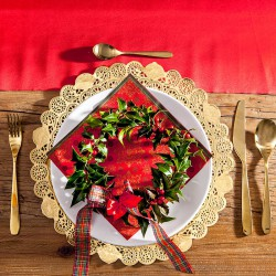 PODKŁADKI świąteczne pod ciasto/talerze ZŁOTE Ø36cm 10szt