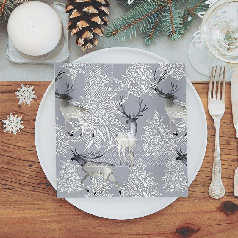 Serwetki świąteczne ze skandynawskim motywem jeleni