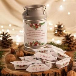 PREZENT świąteczny Kanka z krówkami Z NAZWĄ Naturalne Święta