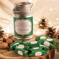 PREZENT świąteczny Kanka z krówkami Z NAZWĄ Zielone Święta