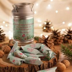 PREZENT świąteczny Kanka z krówkami Z NAZWĄ Zimowy Ptaszek
