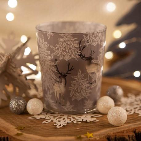ŚWIECA świąteczna zapachowa w szkle Skandynawskie Święta