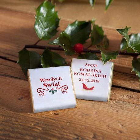 CZEKOLADKA świąteczna personalizowana Boże Narodzenie