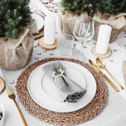 OBRĄCZKI na serwetki na Boże Narodzenie Renifery 6szt