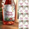 ETYKIETY na butelki świąteczne Classic Christmas komplet 8szt