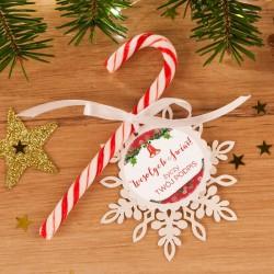 LIZAK na prezent świąteczny Laska Mikołaja CZERWONA (+bilecik z Twoim podpisem)