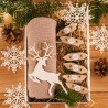PREZENT świąteczny Czapka w pudełku Z IMIENIEM Zestaw Beżowy