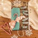PREZENT świąteczny Czapka w pudełku Z IMIENIEM Zestaw Miętowy
